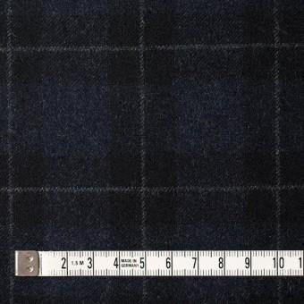 ウール×チェック(ダークネイビー&ブラック)×サージ サムネイル4