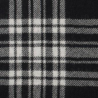 ウール×チェック(ブラック)×サージ サムネイル1