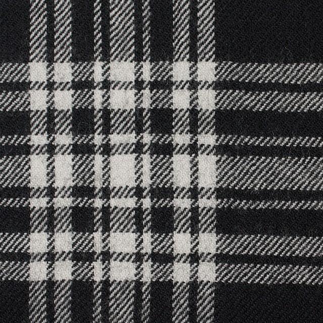 ウール×チェック(ブラック)×サージ イメージ1
