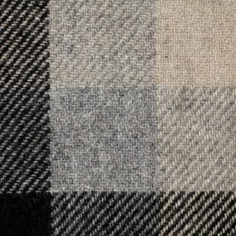 ウール×チェック(グレー&ブラック)×サキソニー サムネイル1