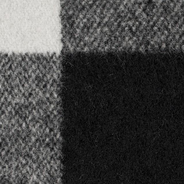ウール&ナイロン×チェック(アイボリー&ブラック)×ツイード イメージ1