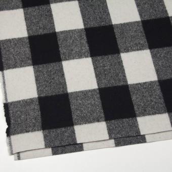 ウール&ナイロン×チェック(アイボリー&ブラック)×ツイード サムネイル2