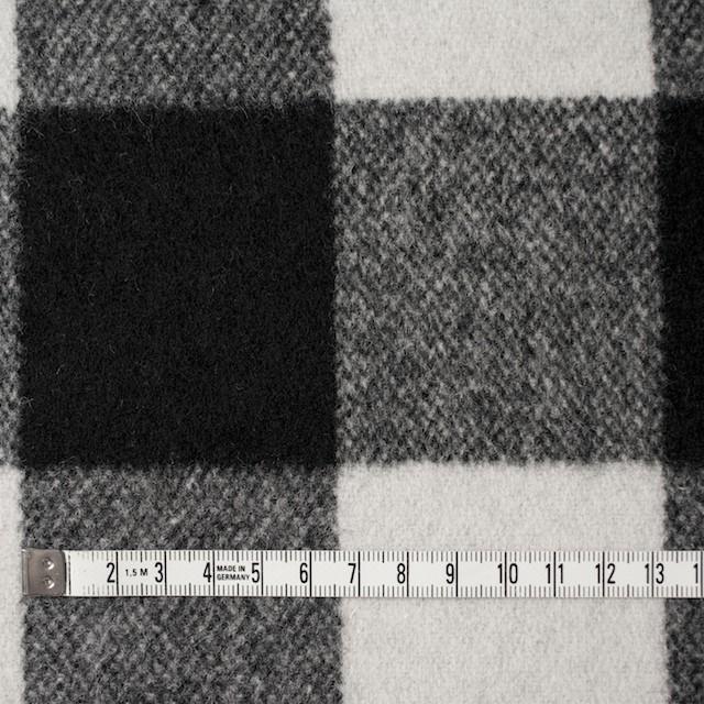 ウール&ナイロン×チェック(アイボリー&ブラック)×ツイード イメージ4