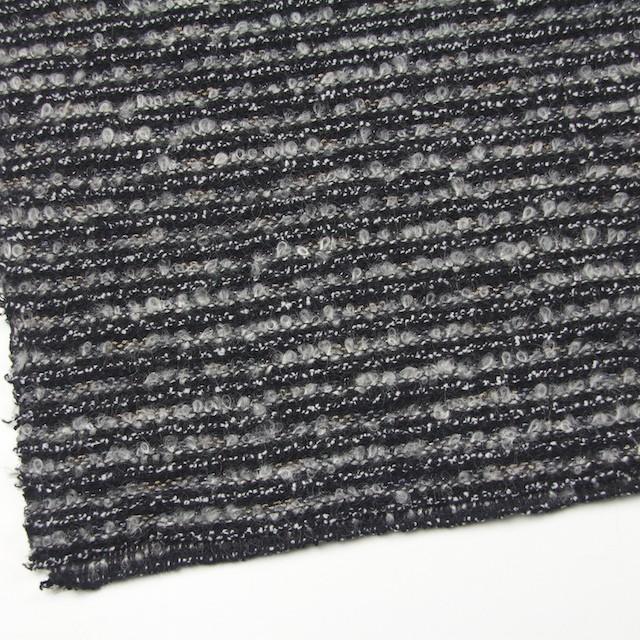 ウール&ナイロン×ミックス(グレー&ブラック)×ジャガードニット イメージ2