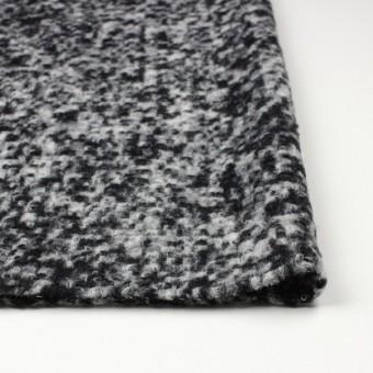 ウール&ポリエステル×モザイク(オフホワイト&ブラック)×ループニット サムネイル3