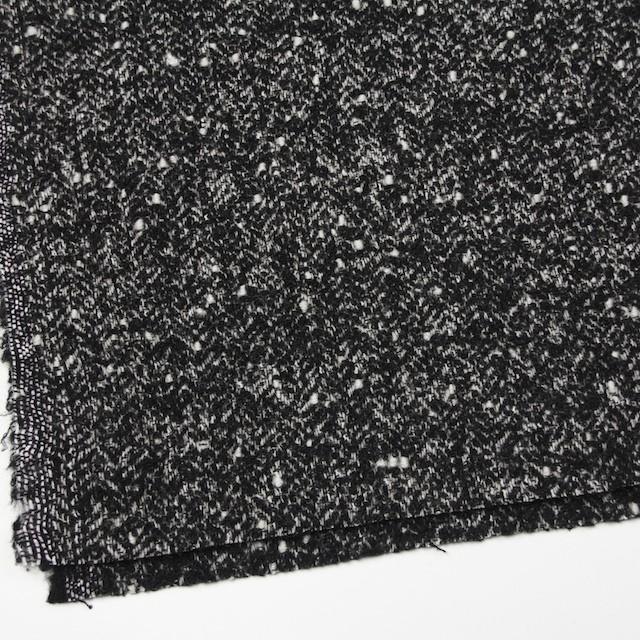 ウール&ナイロン×ミックス(ブラック)×ファンシーツイード イメージ2