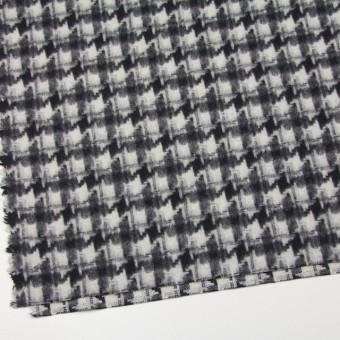 ウール&ポリエステル×チェック(アイボリー&ブラック)×千鳥格子_全2色 サムネイル2