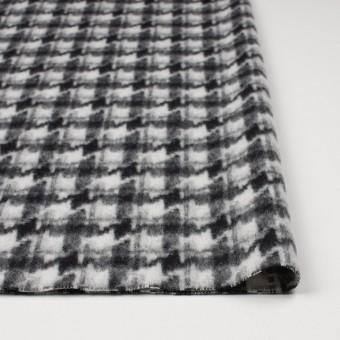 ウール&ポリエステル×チェック(アイボリー&ブラック)×千鳥格子_全2色 サムネイル3