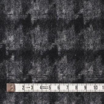 ウール&ポリエステル×チェック(チャコール&ブラック)×千鳥格子_全2色 サムネイル4