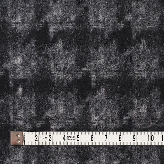 ウール&ポリエステル×チェック(チャコール&ブラック)×千鳥格子_全2色 イメージ4