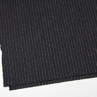 ウール&ナイロン×ストライプ(ブラック)×メルトン サムネイル2