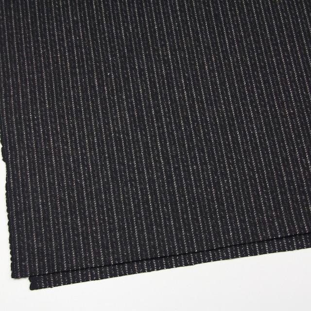 ウール&ナイロン×ストライプ(ブラック)×メルトン イメージ2