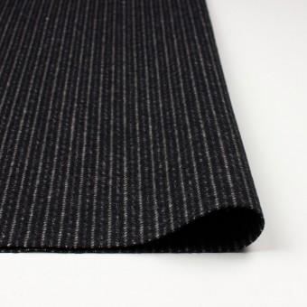 ウール&ナイロン×ストライプ(ブラック)×メルトン サムネイル3