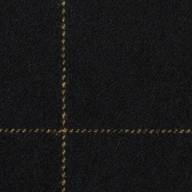 ウール×チェック(オーカー&ブラック)×カルゼ イメージ1