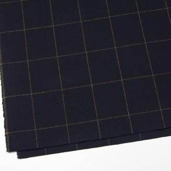 ウール×チェック(オーカー&ブラック)×カルゼ サムネイル2