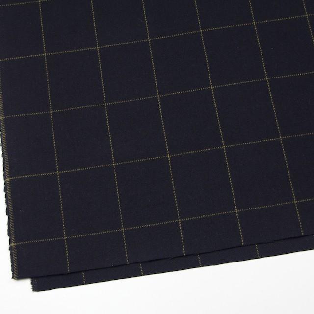 ウール×チェック(オーカー&ブラック)×カルゼ イメージ2