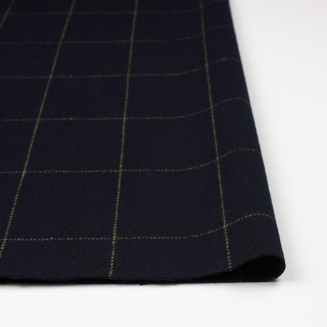 ウール×チェック(オーカー&ブラック)×カルゼ イメージ3