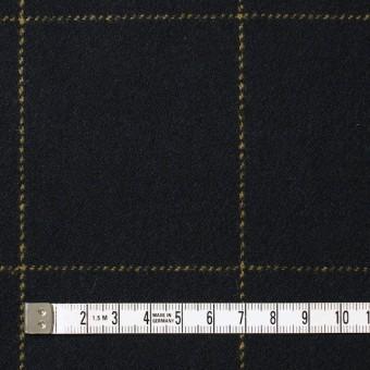 ウール×チェック(オーカー&ブラック)×カルゼ サムネイル4