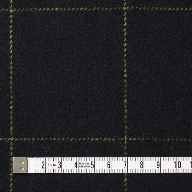 ウール×チェック(オーカー&ブラック)×カルゼ イメージ4