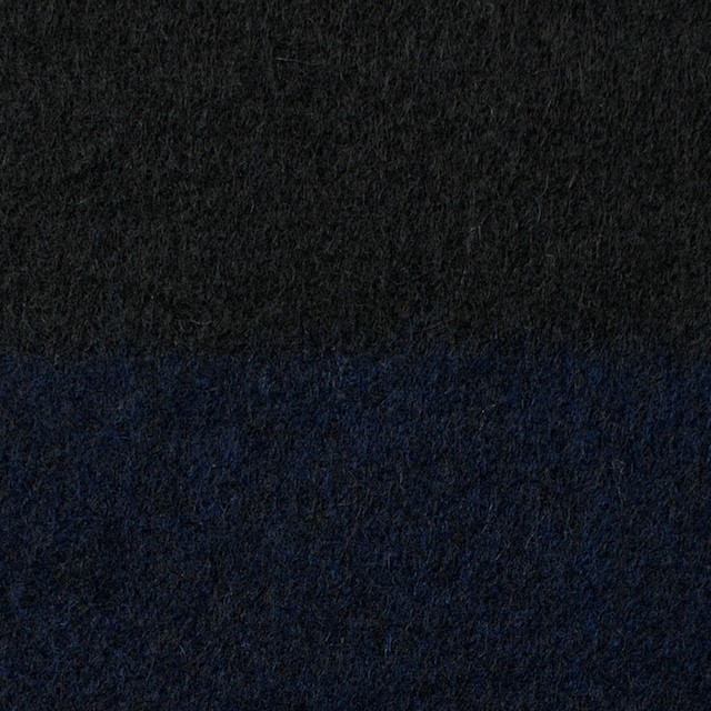 ウール×ボーダー(ネイビー&ブラック)×シャギー イメージ1