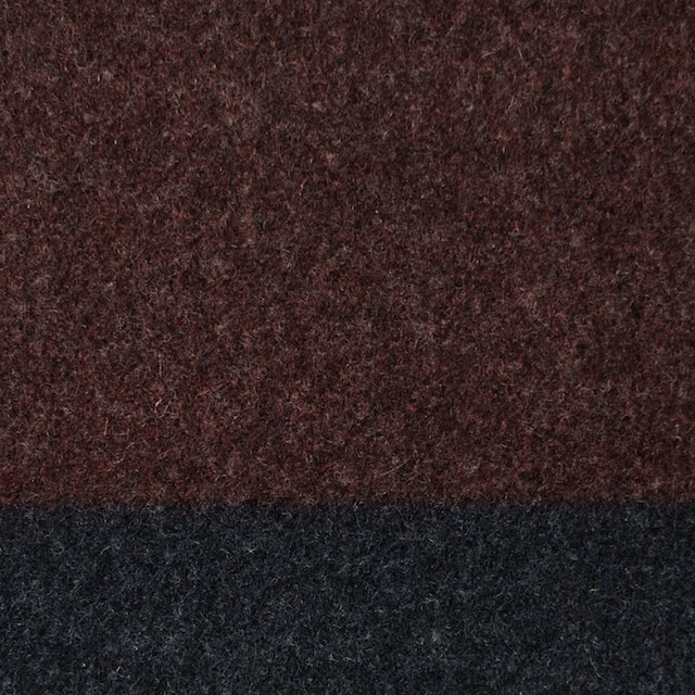 ウール×ボーダー(エンジ&チャコールグレー)×フラノ(フランネル)_全2色 イメージ1