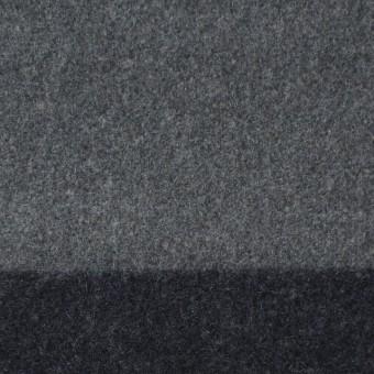 ウール×ボーダー(フレンチグレー&チャコールグレー)×フラノ(フランネル)_全2色