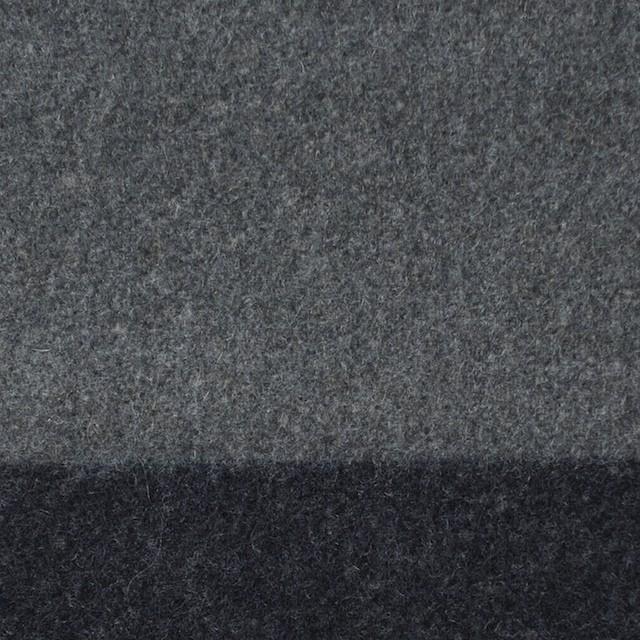ウール×ボーダー(フレンチグレー&チャコールグレー)×フラノ(フランネル)_全2色 イメージ1