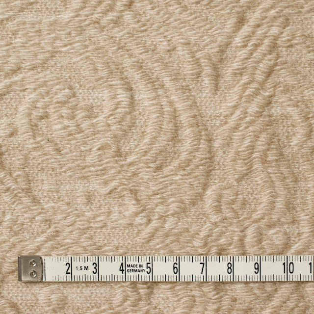 ウール&アクリル×幾何学模様(ウォームベージュ)×フクレジャガード イメージ4