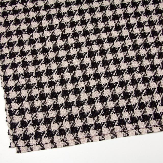 ウール&アクリル混×千鳥格子(ピンク&ブラック)×ファンシーツイード イメージ2