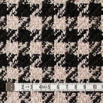 ウール&アクリル混×千鳥格子(ピンク&ブラック)×ファンシーツイード サムネイル4