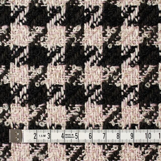 ウール&アクリル混×千鳥格子(ピンク&ブラック)×ファンシーツイード イメージ4
