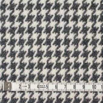 ウール&ナイロン混×チェック(アイボリー&グレー)×千鳥格子 サムネイル4
