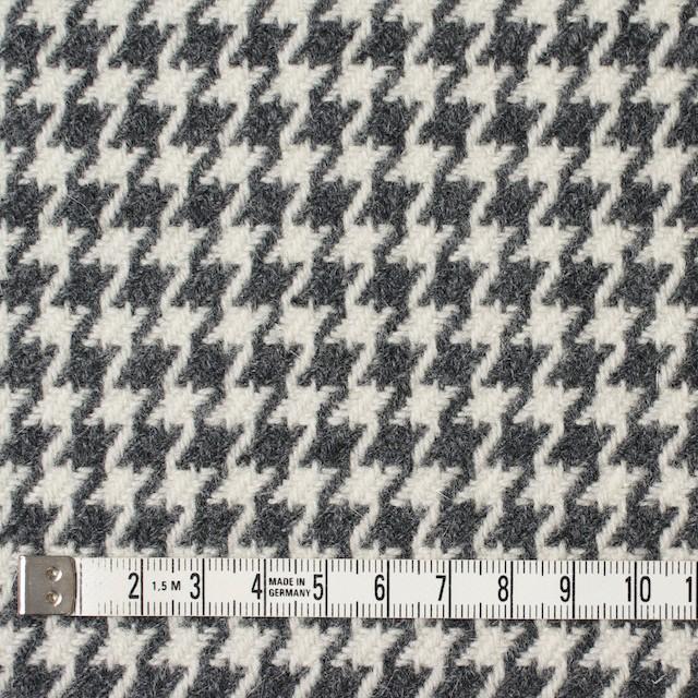 ウール&ナイロン混×チェック(アイボリー&グレー)×千鳥格子 イメージ4