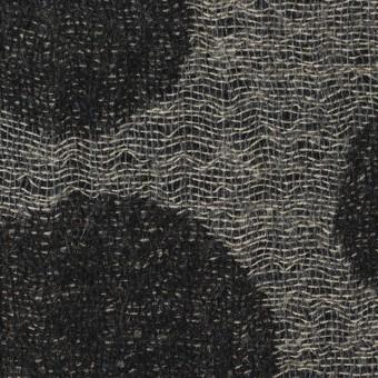 ウール×ドット(チャコール&ブラック)×ガーゼ(風通織)