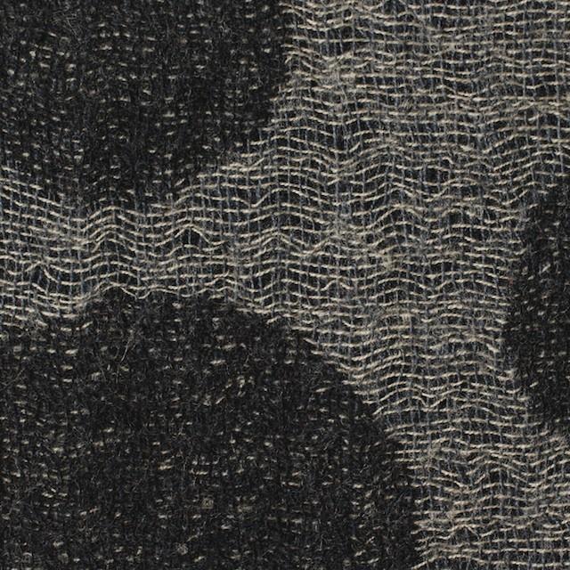 ウール×ドット(チャコール&ブラック)×ガーゼ(風通織) イメージ1