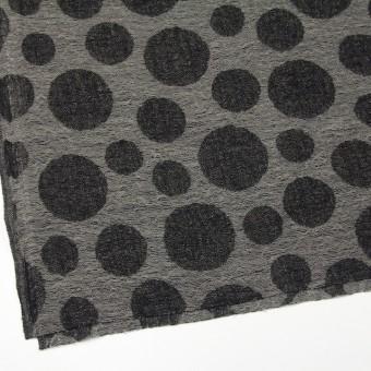 ウール×ドット(チャコール&ブラック)×ガーゼ(風通織) サムネイル2