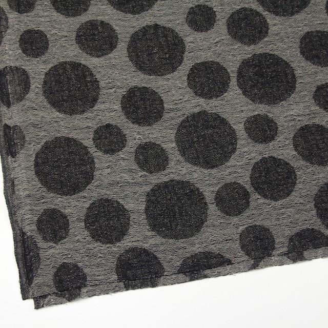 ウール×ドット(チャコール&ブラック)×ガーゼ(風通織) イメージ2