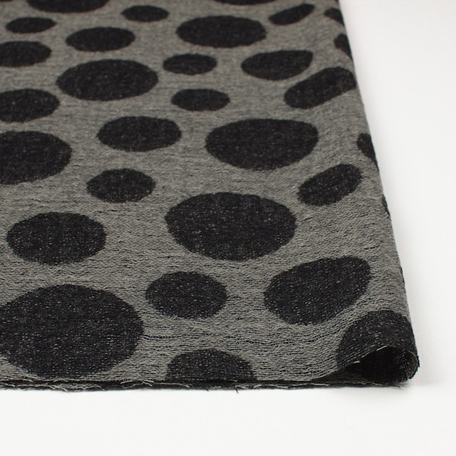 ウール×ドット(チャコール&ブラック)×ガーゼ(風通織) イメージ3