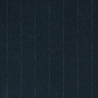 コットン&ポリウレタン×ストライプ(インクブルー)×ベッチン・ストレッチ