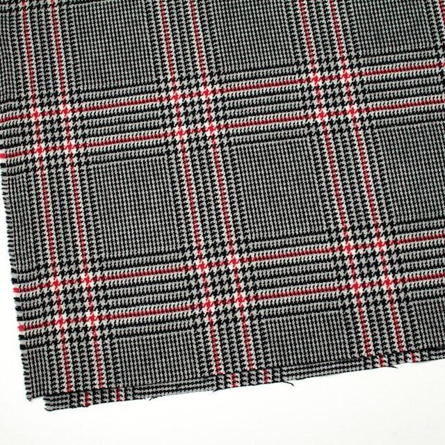 ウール×チェック(レッド&ブラック)×千鳥格子 イメージ2