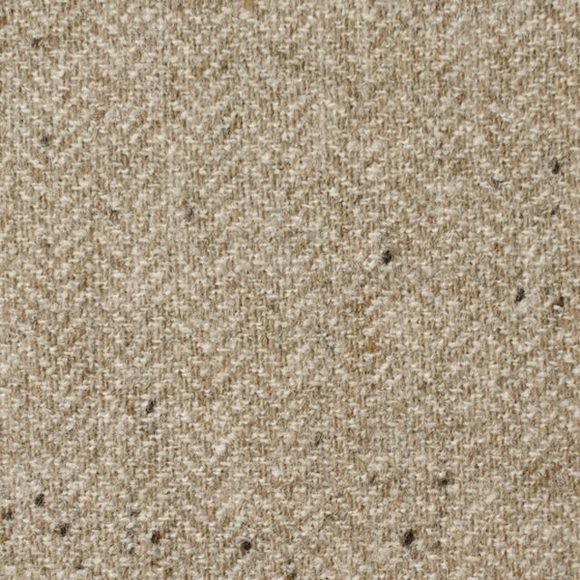 ウール&ナイロン混×無地(ベージュ)×ヘリンボーン・ストレッチ_全3色 イメージ1