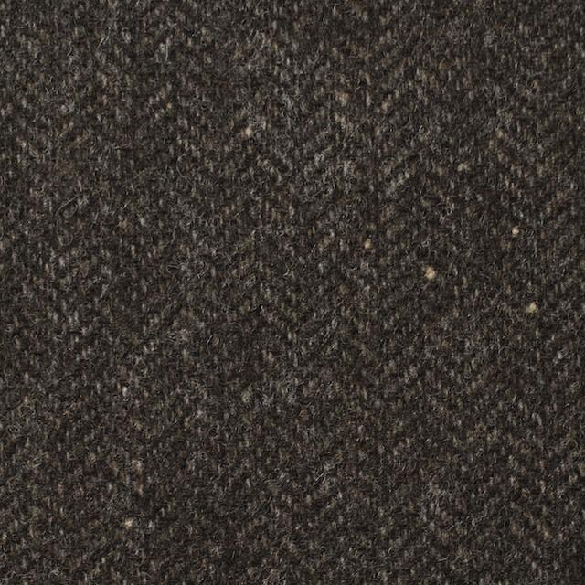 ウール&ナイロン混×無地(ダークブラウン)×ヘリンボーン・ストレッチ_全3色 イメージ1