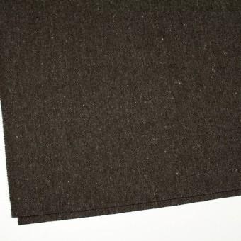 ウール&ナイロン混×無地(ダークブラウン)×ヘリンボーン・ストレッチ_全3色 サムネイル2