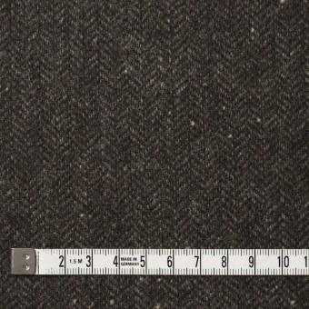 ウール&ナイロン混×無地(ダークブラウン)×ヘリンボーン・ストレッチ_全3色 サムネイル4