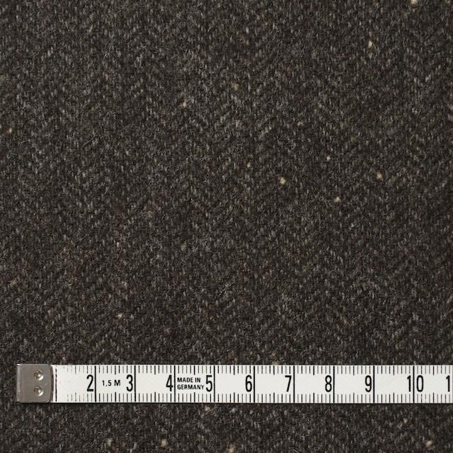 ウール&ナイロン混×無地(ダークブラウン)×ヘリンボーン・ストレッチ_全3色 イメージ4