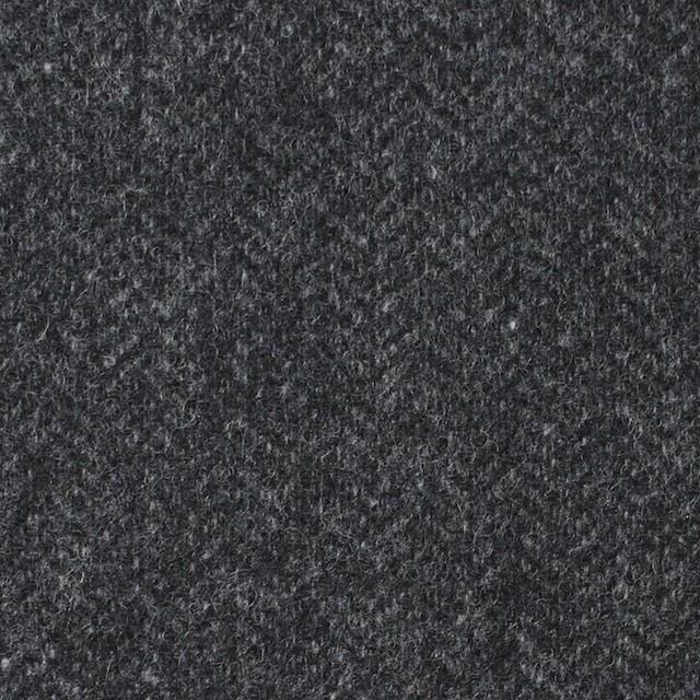 ウール&ナイロン混×無地(チャコールグレー)×ヘリンボーン・ストレッチ_全3色 イメージ1
