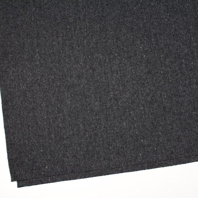 ウール&ナイロン混×無地(チャコールグレー)×ヘリンボーン・ストレッチ_全3色 イメージ2