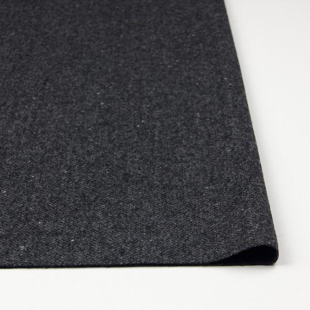ウール&ナイロン混×無地(チャコールグレー)×ヘリンボーン・ストレッチ_全3色 イメージ3