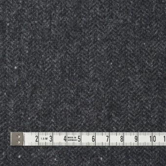 ウール&ナイロン混×無地(チャコールグレー)×ヘリンボーン・ストレッチ_全3色 サムネイル4