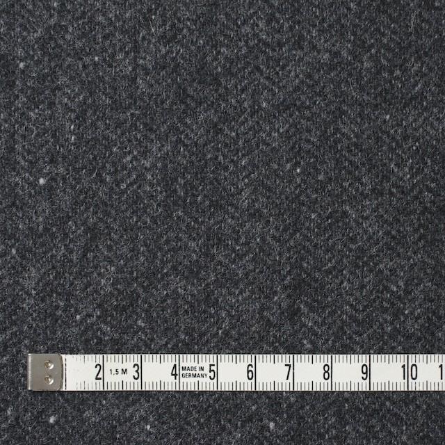 ウール&ナイロン混×無地(チャコールグレー)×ヘリンボーン・ストレッチ_全3色 イメージ4
